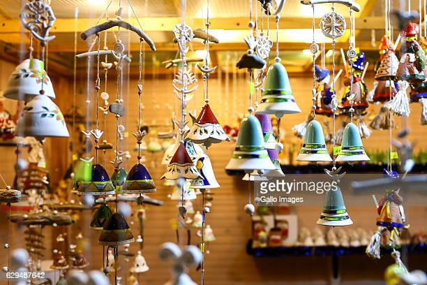 Christmas decorations on the Christmas Market on December 11 2016 at the Old Town in Warsaw Poland The Christmas Market at Barbakan offers many...