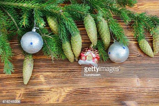Christmas decorative background. : Stock Photo