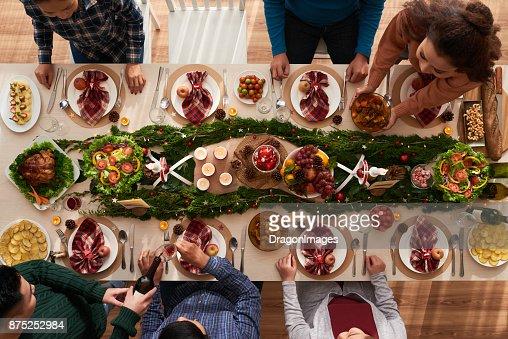 Weihnachts-dinner : Stock-Foto