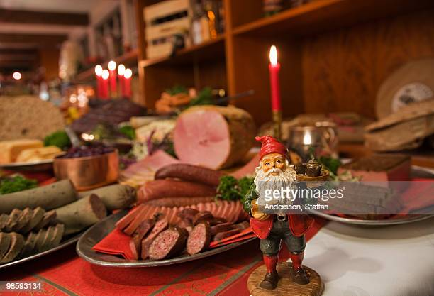 A Christmas dinner table, Sweden.