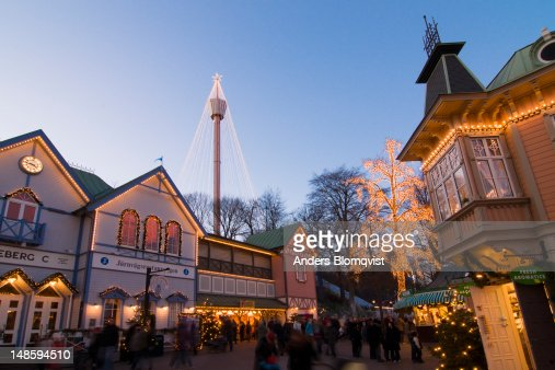 Christmas display at Liseberg Fun Park for Christmas Market. : Stock Photo