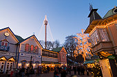 Christmas display at Liseberg Fun Park for Christmas Market.