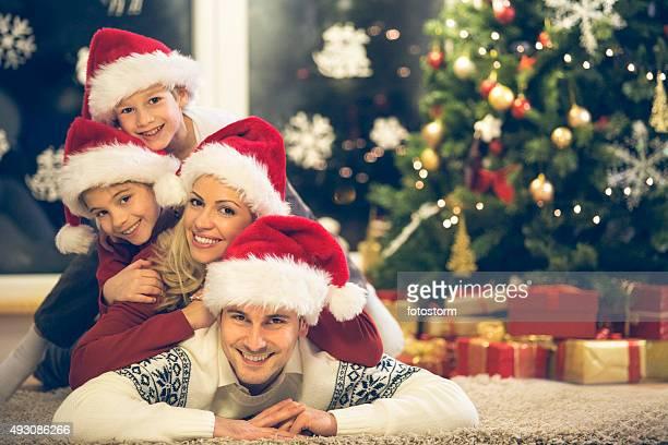 Weihnachten-Familie