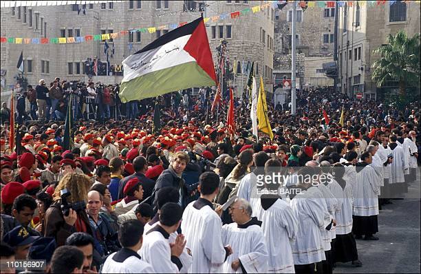 Christmas festival in Bethlehem Israel on December 25 1993