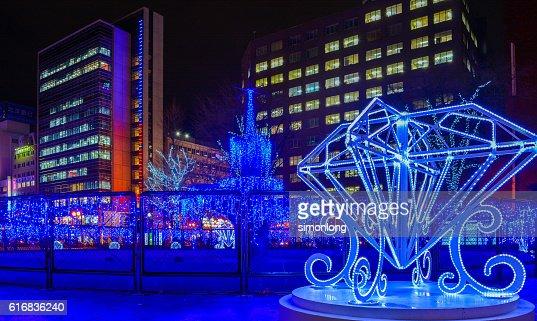 Christmas Festival in Odori Park : Stock Photo