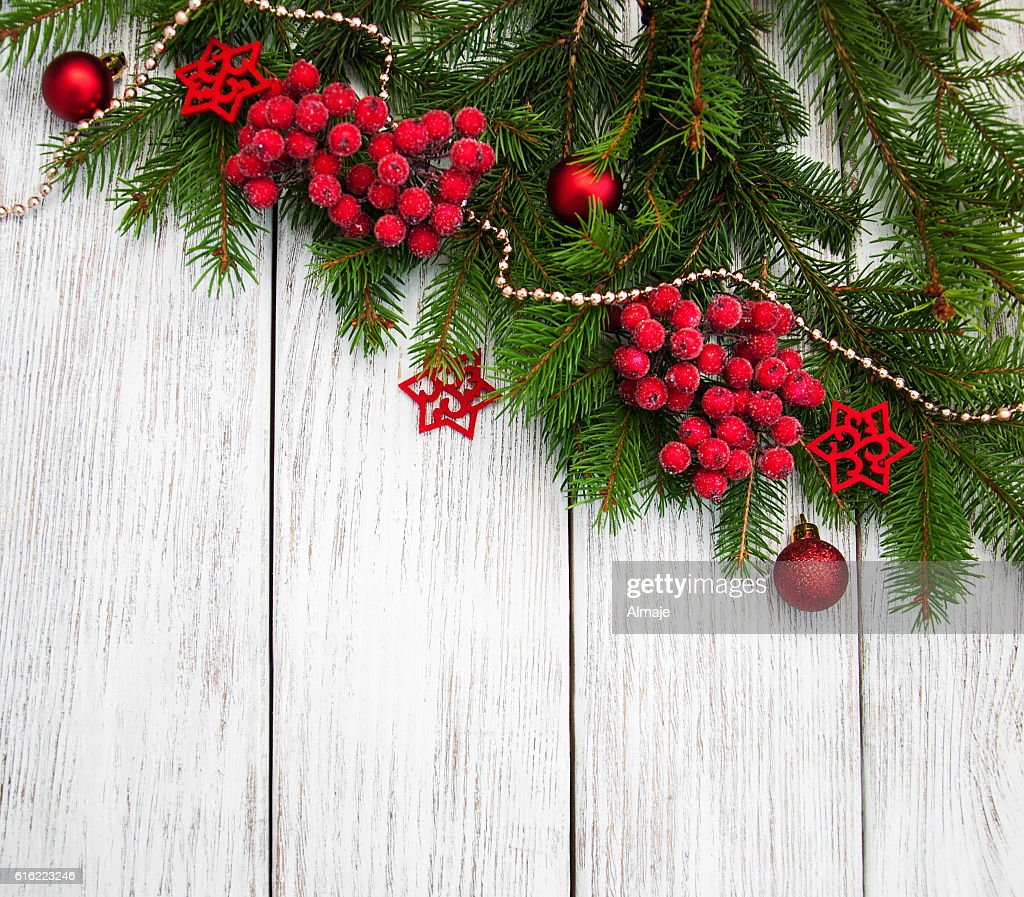 christmas fir tree with decoration : Bildbanksbilder
