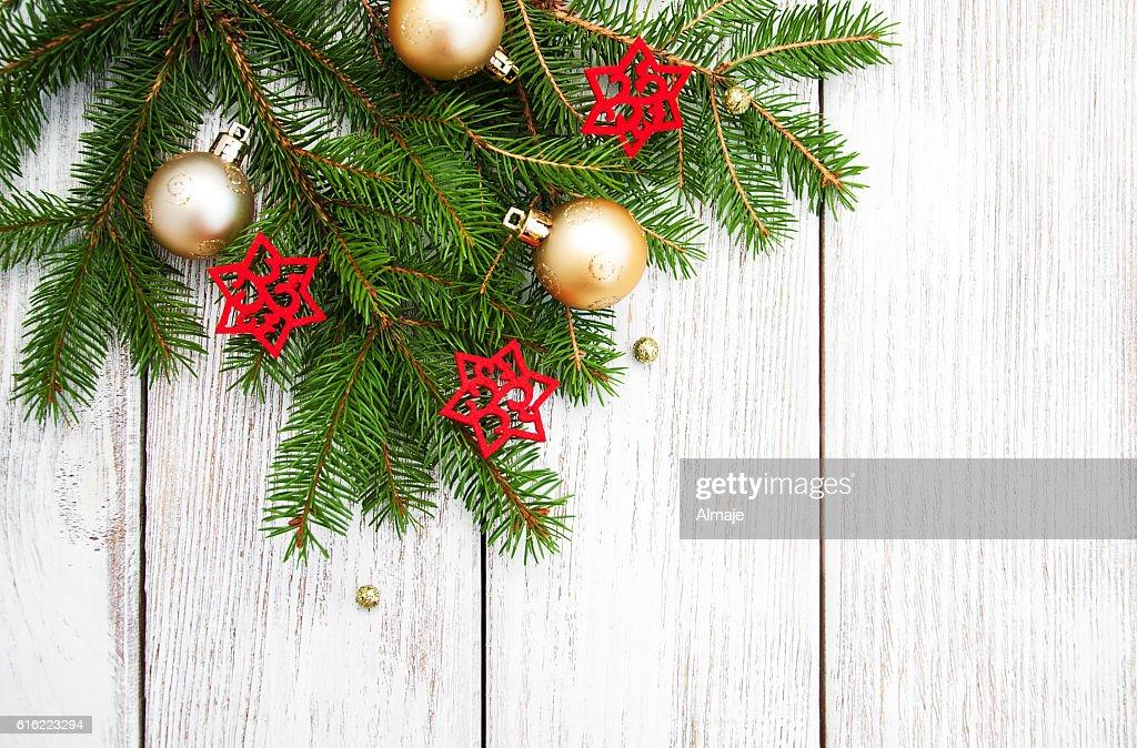christmas fir tree with decoration : Stockfoto