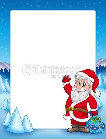 moldura de natal com santa claus 2 foto de stock thinkstock. Black Bedroom Furniture Sets. Home Design Ideas