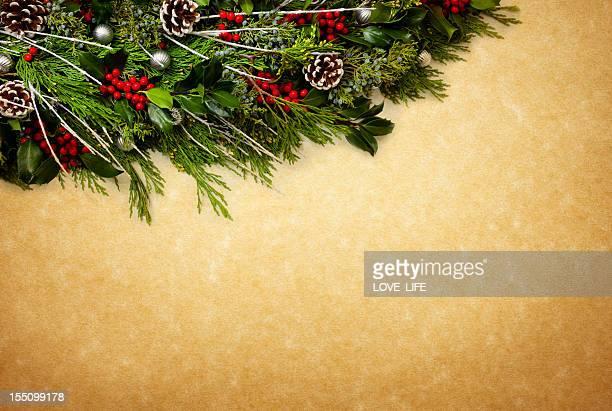 Christmas Garland Hintergrund.