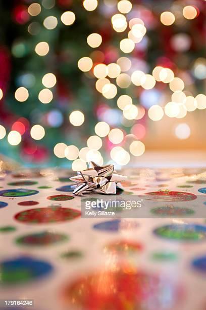 Christmas Gift Bow and Lights