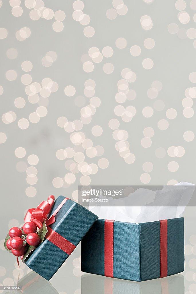 Christmas gift box : Stock Photo
