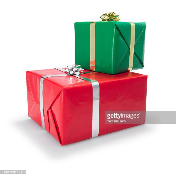 Christmas gift boxes, close-up