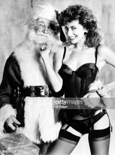 A Christmas gift from Santa the latest range of underwear from the BHS the black basque knickers and suspenders are available now for less than 19
