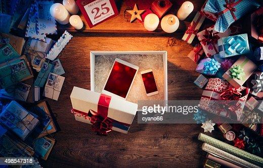 Regalo de navidad : Foto de stock