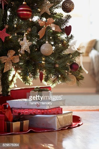 Christmas Gifts Under the Christmas Tree : Photo