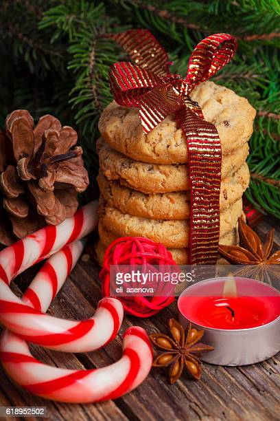 Weihnachten Lebkuchen cookies mit Dekorationen