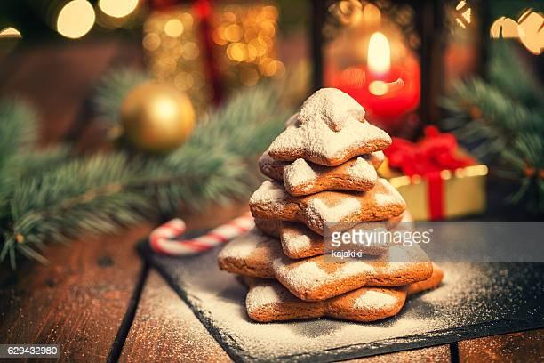 Christmas Gingerbread Star Shape Cookies