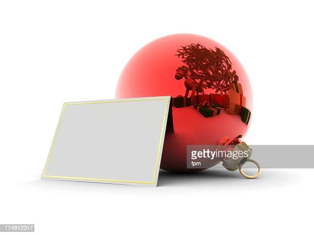 Christmas Glitter Ball with blank Card