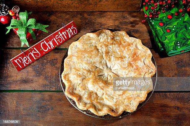 Christmas Greeting Card, Table Decoration & Holiday Pie Dessert Gift