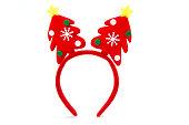 Christmas headband with decorative Christmas trees.