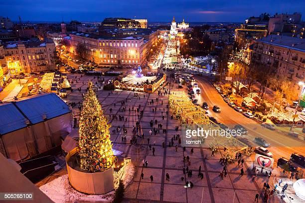 Christmas holiday in the Kyiv, Ukraine