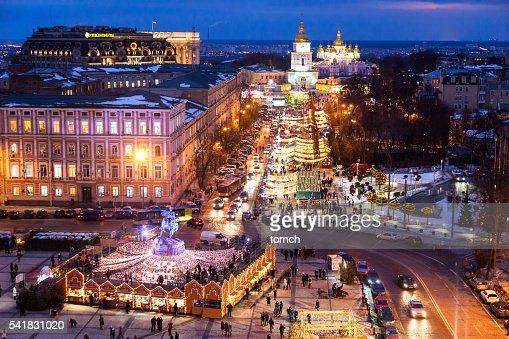 weihnachten urlaub in kiew ukraine stock foto getty images. Black Bedroom Furniture Sets. Home Design Ideas