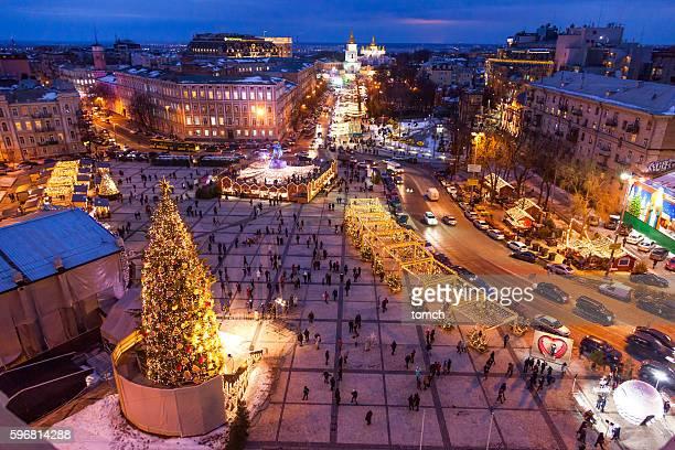 Christmas holiday en Kyiv, Ucrania