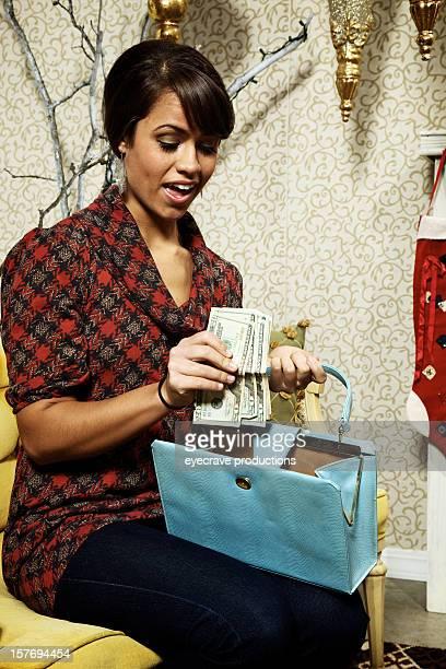 Christmas holiday shopping female