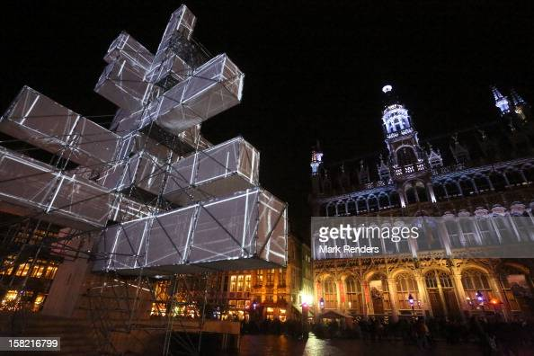 Christmas illumination is displayed at Grand Place on December 11 2012 in Brussel Belgium
