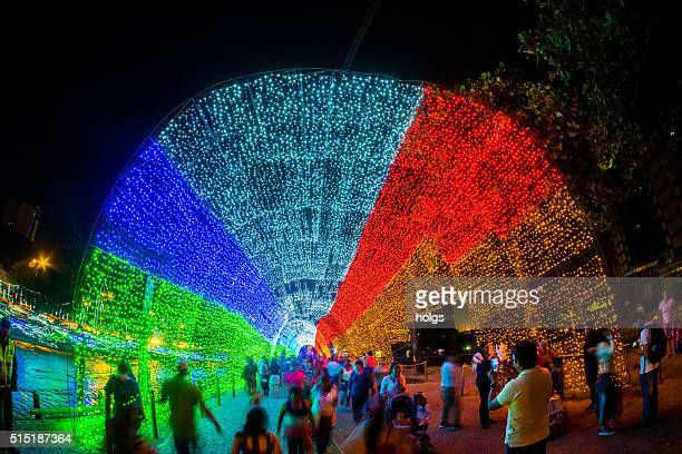 Christmas light show in Medellin, Colombia