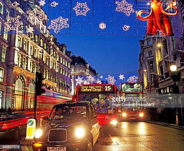Christmas Lights and Traffic Regent Street London