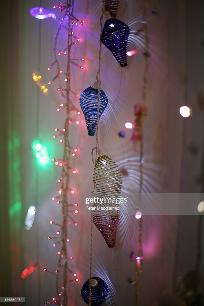 Christmas lights are displayed for sale at The Ideal Home Christmas Show on November 14, 2012 in London, England. Over 400 exhibitors are showcasing a range of gift ideas for Christmas at the Earls Court exhibition centre.