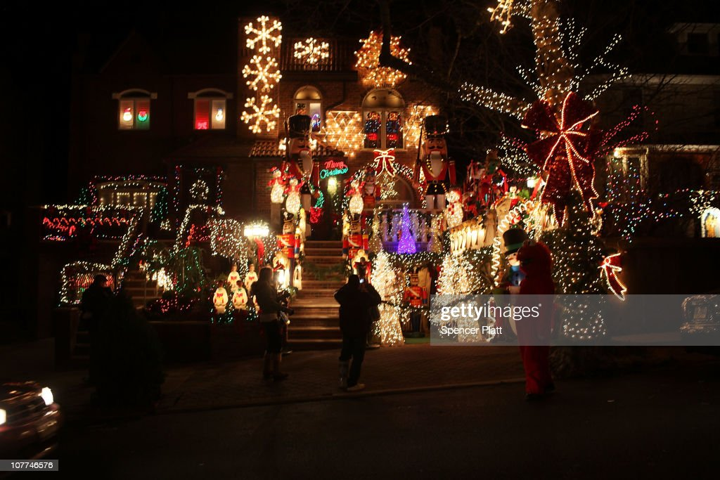 christmas lights are viewed on homes on december 22 2010 in the brooklyn borough of - Christmas Lights In Brooklyn
