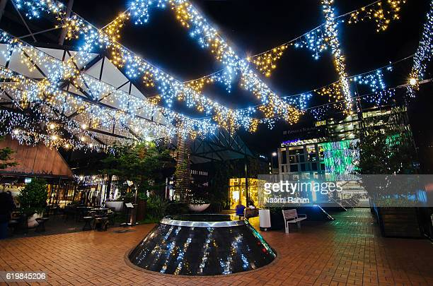 Christmas lights at Britomart - Auckland, New Zealand