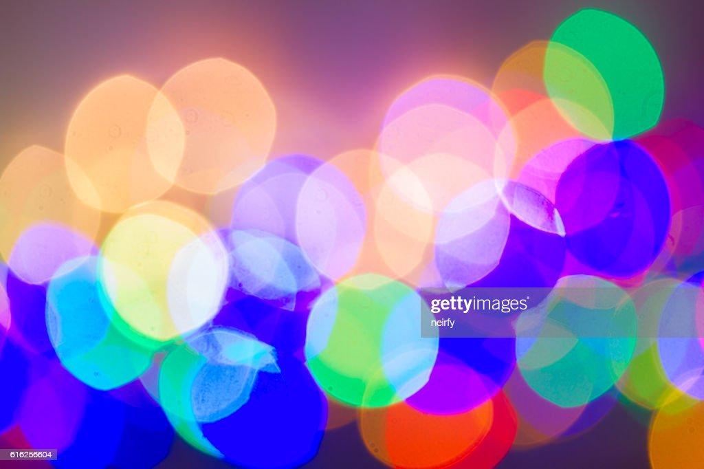 christmas lights defocused background : Stock Photo