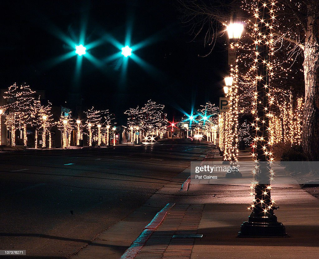 Christmas Lights, Estes Park, Colorado