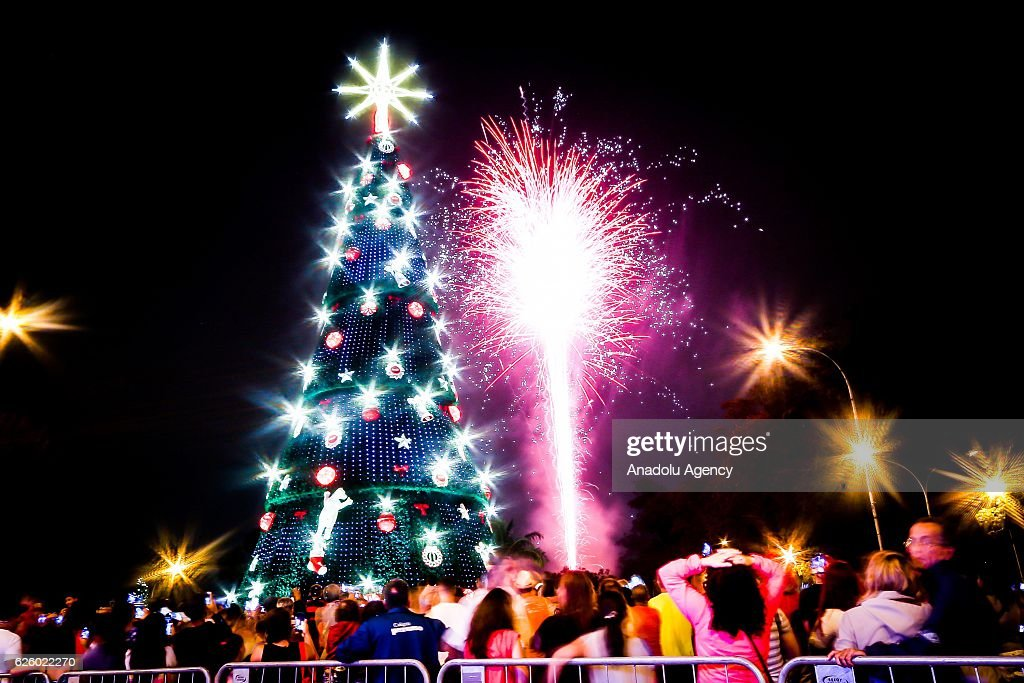 christmas lights illuminate the 35 meters long christmas tree at the ibirapuera park on november 26 - Long Christmas Lights