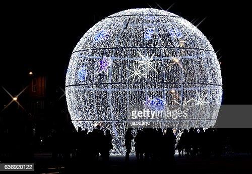 Christmas lights in sphere shape