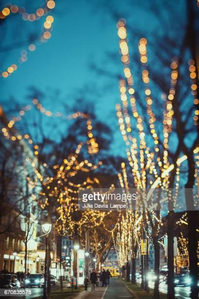 Christmas lights in Vienna.