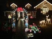 Christmas Lights Montgomery County Pennsylvania USA