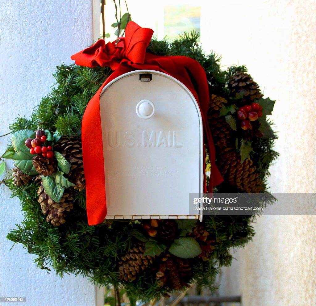 Christmas Mailbox : Stock Photo