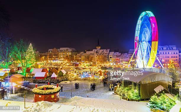Christmas Market Erfurt at night