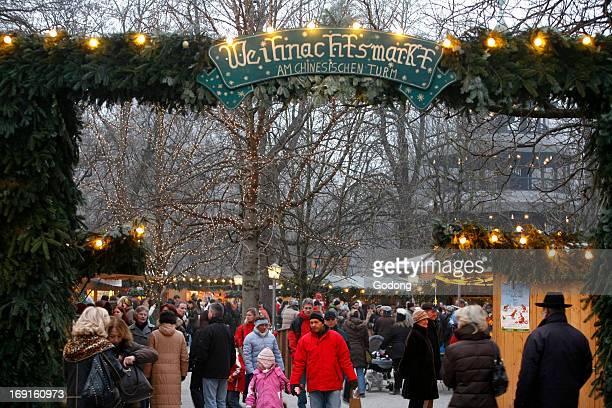 Christmas market in Munich winter garden