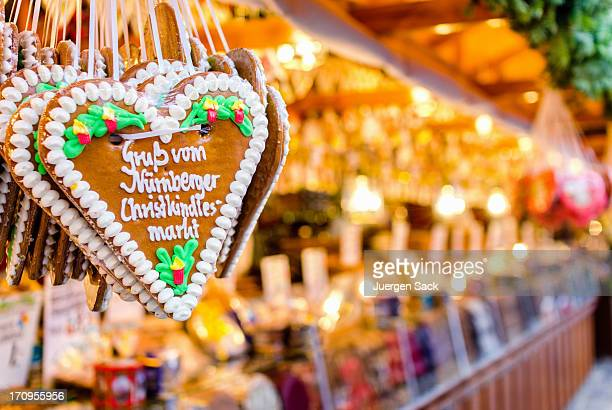 Christmas Market Stall and Gingerbread Heart