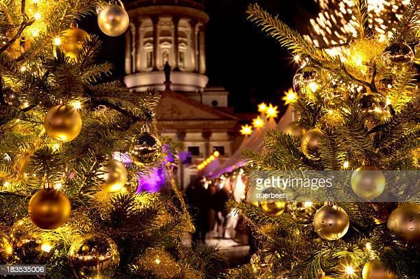 Christmas Market with Christmas-trees