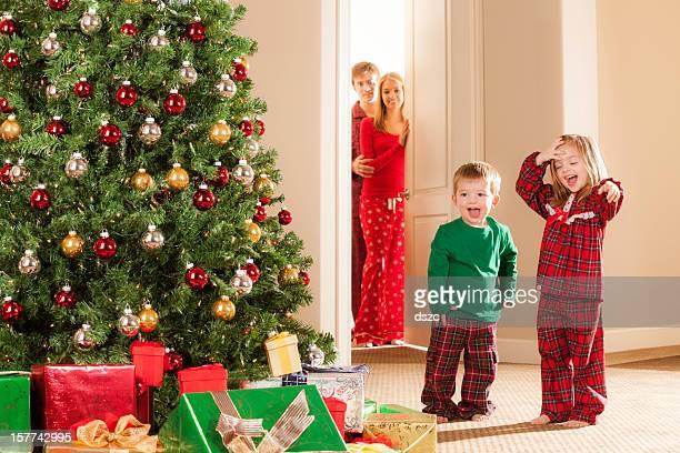 Christmas morning family