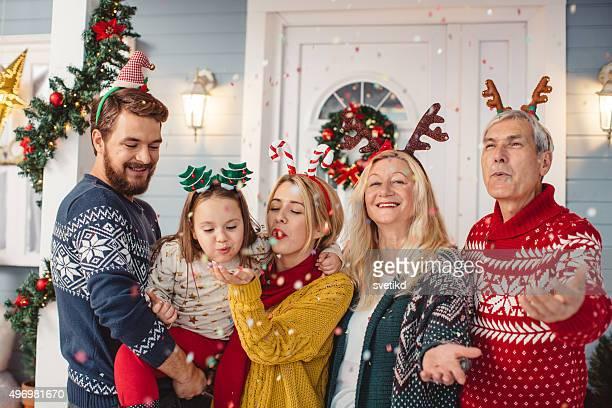 Christmas Tag mit der Familie.