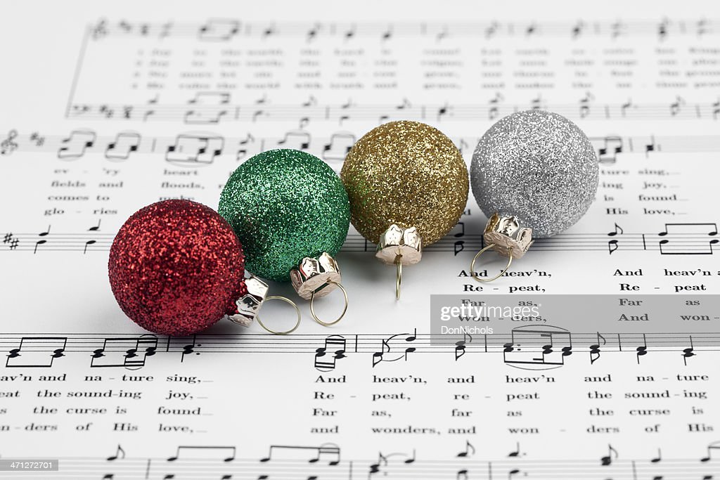 Christmas Music and Decorations : Stock Photo