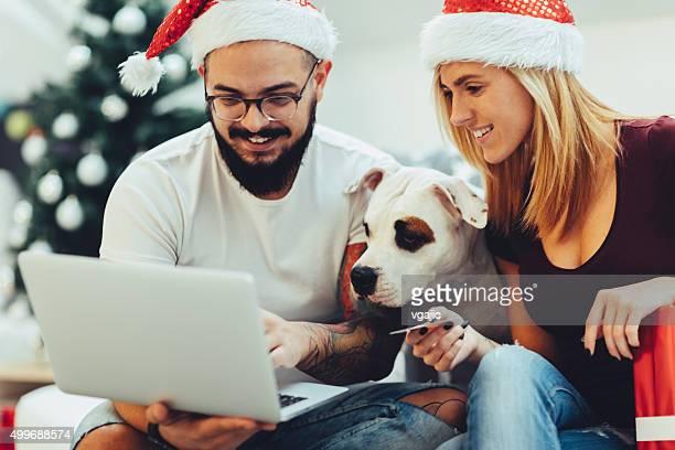 Weihnachten Online-Shopping.