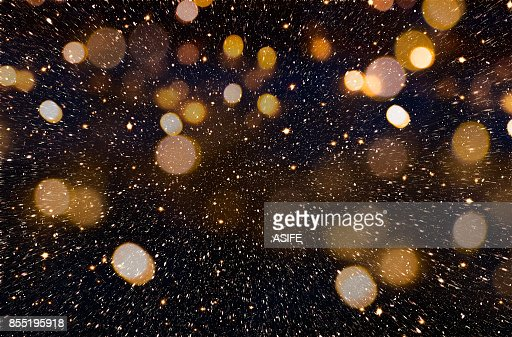 Christmas or New Year golden background : Stock Photo
